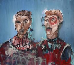Oil and spray paint on canvas | 200x240cm | 2014