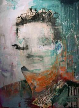 Oil and spray paint on canvas | 140x100cm | 2015