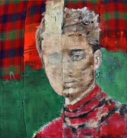 Oil and spray paint on djadjim/kilim | 170x150cm | 2016