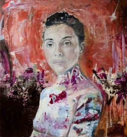 Oil and spray paint on canvas | 110x105cm | 2016