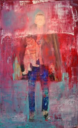 Collaboration with Saskia Porkay | Oil and spray paint on canvas | 200x120cm | 2016
