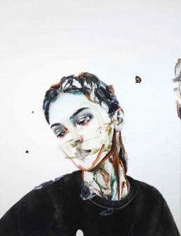 VIOLENCE LIKE A RAINBOW   Oil and acrylic on canvas   116x89cm   2021